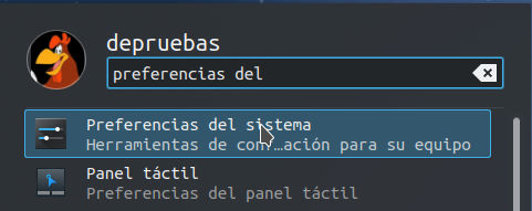 Preferencias del sistema - Menu