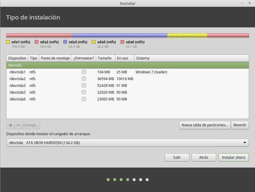 Linux Mint Live CD unidades de disco