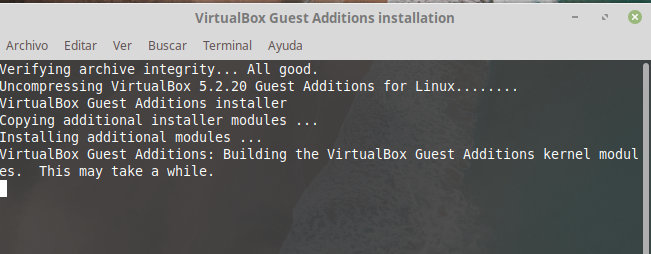 Instalacion virtualbox guest additions